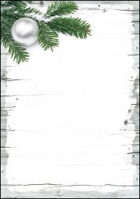 weihnachtsbriefpapier weihnachtsschmuck auf holz a4. Black Bedroom Furniture Sets. Home Design Ideas