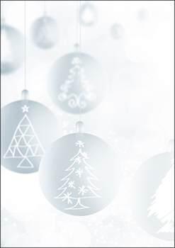 Weihnachtsbriefpapier sternenkerzen a4 - Weihnachtskugeln pastell ...