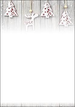 Weihnachtsbriefpapier Holzdeko A4 Weihnachtskartenzauber Ch
