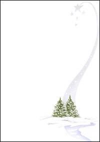 weihnachtsbriefpapier winterlandschaft a4. Black Bedroom Furniture Sets. Home Design Ideas