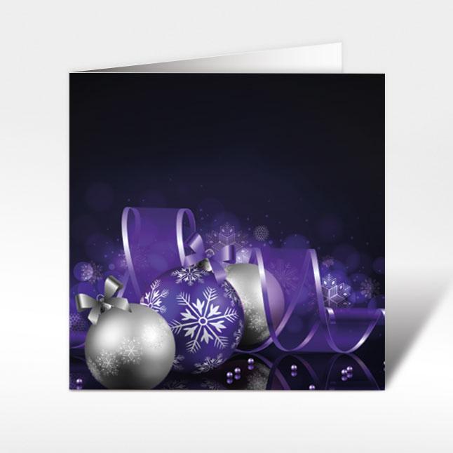 weihnachtskarten mit weihnachtskugeln auf schwarz 150. Black Bedroom Furniture Sets. Home Design Ideas