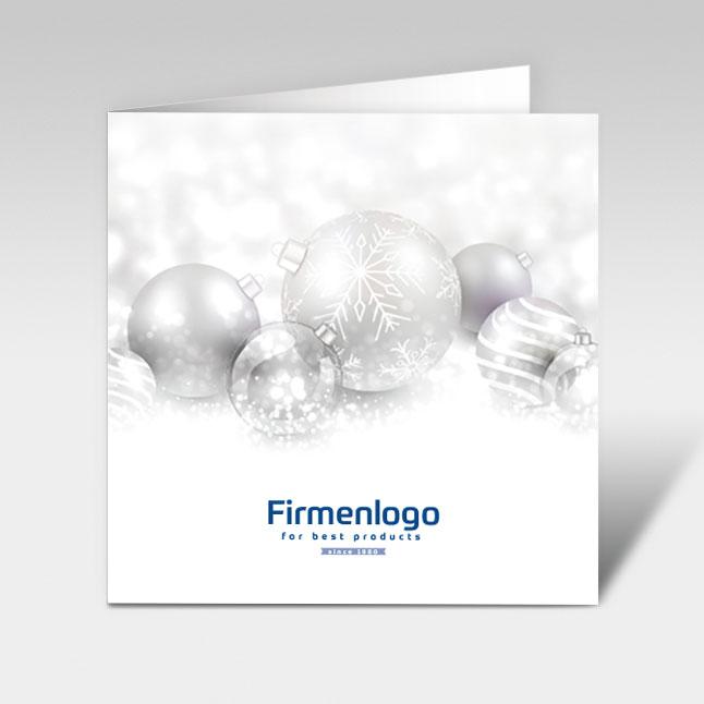 Weihnachtskarten Mit Firmenlogo.Weihnachtskarten Mit Weihnachtskugeln Und Firmenlogo Eindruck 150 X