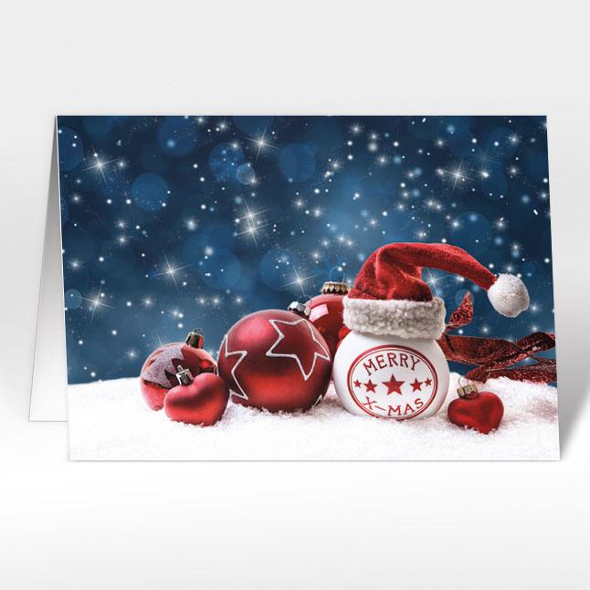 weihnachtskarten mit nikolaus weihnachtsm tze a5 quer. Black Bedroom Furniture Sets. Home Design Ideas