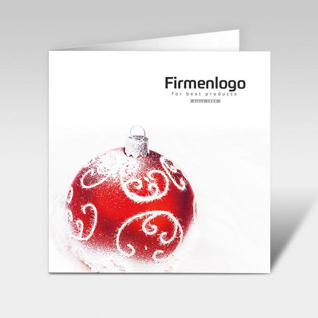 weihnachtskarte power weihnachtskugel mit logo 150 x. Black Bedroom Furniture Sets. Home Design Ideas