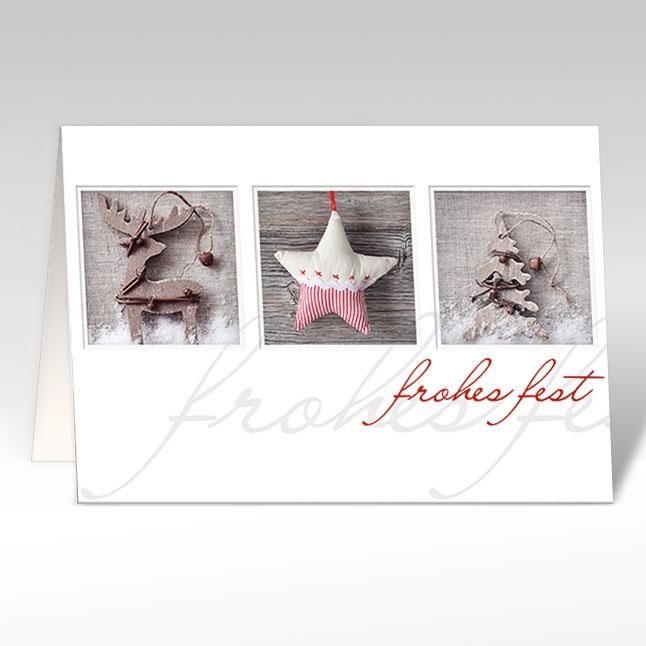 Holz Weihnachtskarten.Weihnachtskarten Heimelige Weihnachten Holz A5 Quer Mit Couvert