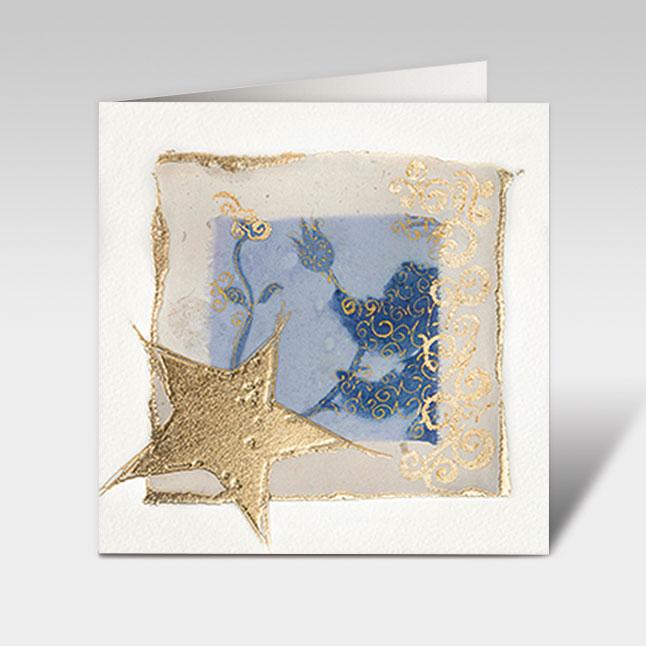 weihnachtskarten mit kunst der sterne 150 x 150 mm mit. Black Bedroom Furniture Sets. Home Design Ideas