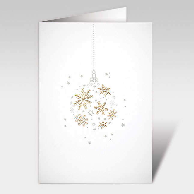 weihnachtskarten schlicht edel in gold a5 mit couvert. Black Bedroom Furniture Sets. Home Design Ideas