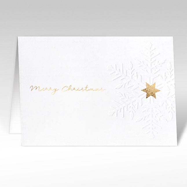 weihnachtskarten edel schneeflocke in gold a5 mit. Black Bedroom Furniture Sets. Home Design Ideas