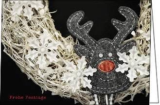 weihnachtskarten mit rentier frohe festtage a5 mit. Black Bedroom Furniture Sets. Home Design Ideas